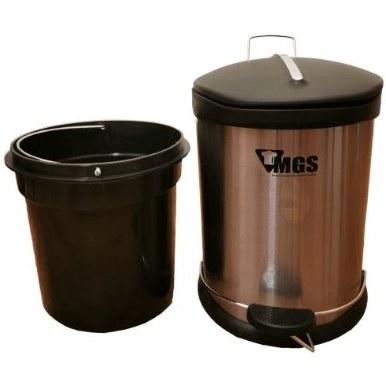 تصویر سطل زباله ام جی اس مدلS05 گنجايش 5 ليتر / استیل