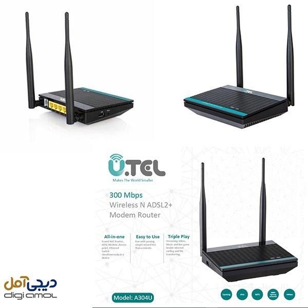 main images مودم روتر یو.تل ADSL2 Plus بی سیم مدل A304U6900