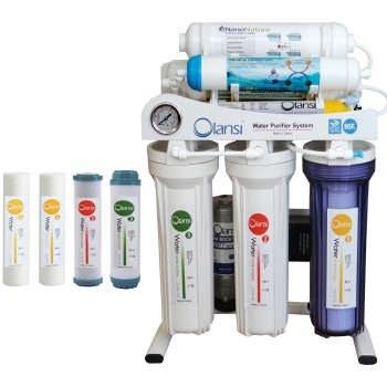 دستگاه تصفیه کننده آب اولانسی مدل REVERSE OSMOSIS - AT1400 به همراه فیلتر دستگاه تصفیه کننده آب بسته 4 عددی