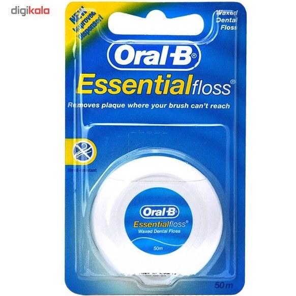 تصویر نخ دندان نعنایی اورال-بی مدل Essential Oral-B Mint Essential Floss