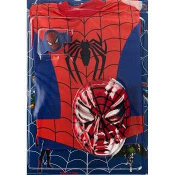 ست لباس و ماسک کودک مدل Spider Man
