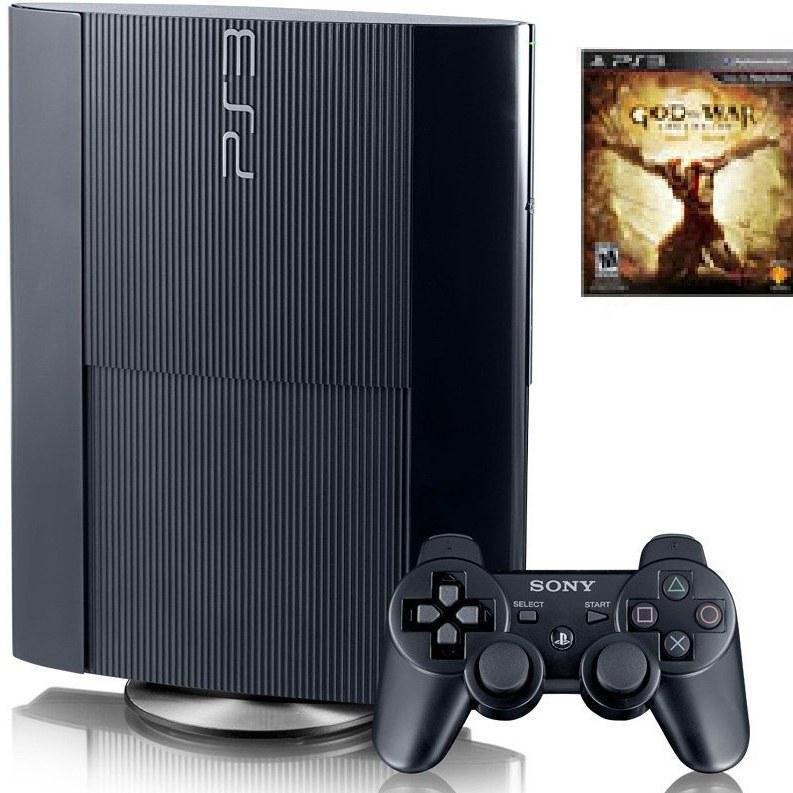 تصویر کنسول بازی سونی پلی استيشن 3 با حافظه 12 گیگابایت همراه با بازی بی نظیره God of War کنسول خانگی سونی PlayStation 3 12GB Game Console With God of War