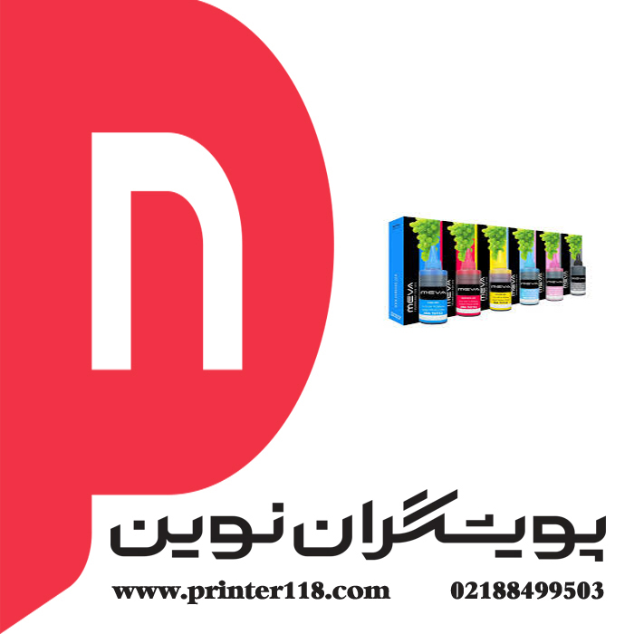 تصویر جوهر 6 رنگ MEVA 100cc MEVA Ink Series 6 Color 100CC