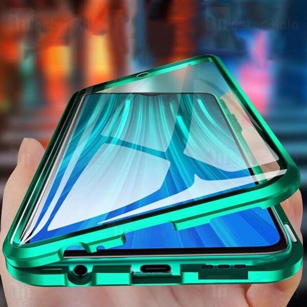تصویر قاب مگنتی 360 درجه Xiaomi Redmi 9 Magnetic 2 in 1 Case دارای گلس صفحه
