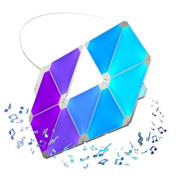 تصویر پنل روشنایی هوشمند 9 تکه Nanoleaf Rhythm Edition
