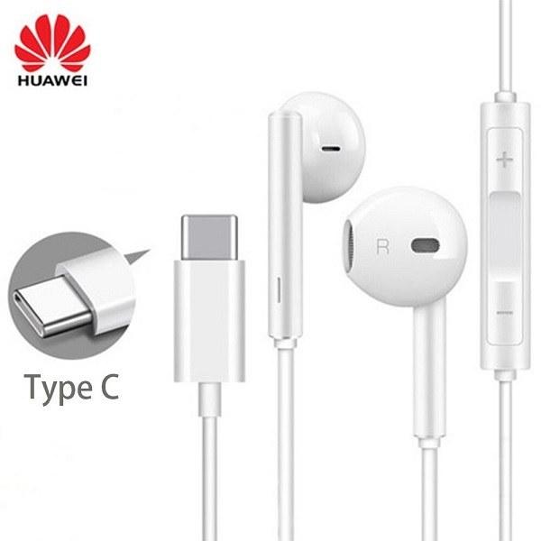 تصویر هندزفری تایپ سی هنذفری هواوی اورجینال سرجعبه 100 درصد اصلی مدل Huawei Type-C Headphones GA 0296