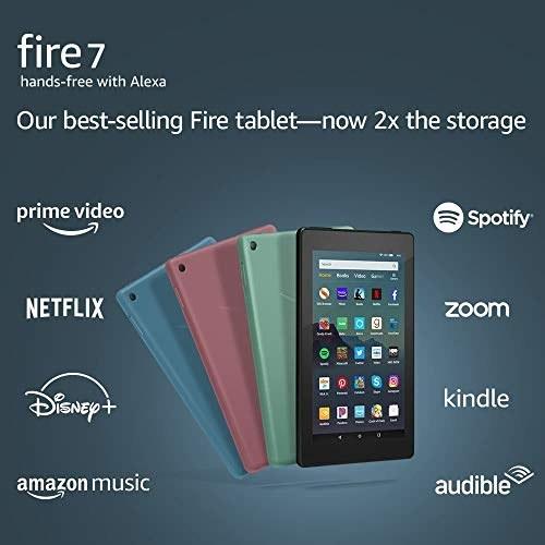 """عکس تبلت آمازون مدل فایر 7 اینچی نسل 9 مدل 2019 سبز با ظرفیت 16 گیگابایت Fire 7 tablet (7"""" display, 16 GB) - Sage تبلت-امازون-مدل-فایر-7-اینچی-نسل-9-مدل-2019-سبز-با-ظرفیت-16-گیگابایت"""