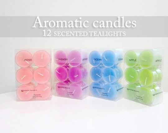 پکیج شمع 12 تایی Aromatic