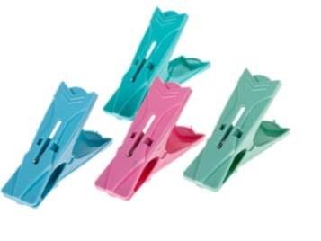 تصویر گیره لباس پلاستیکی 12 عددی|گیره لباس آرش 12 عددی