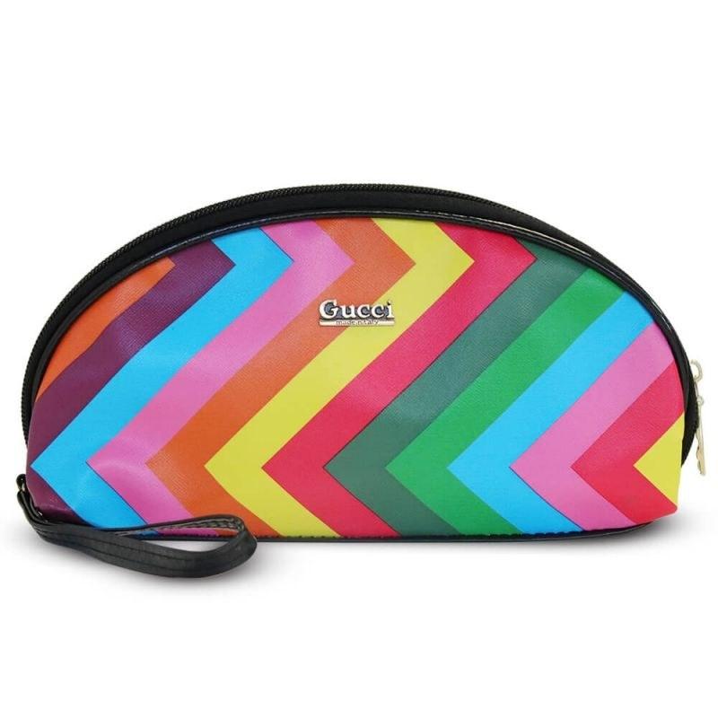 کیف آرایشی بیضی مدل Rainbow طرح A