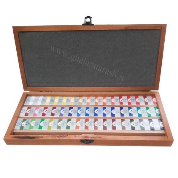 آبرنگ افرا جعبه چوبی ۴۸ رنگ (دارای پالت + چارت رنگ)