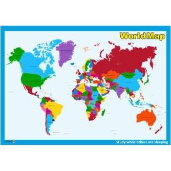 پوستر چاپ پارسیان طرح نقشه جهان مدل WORLDMAP 001 |
