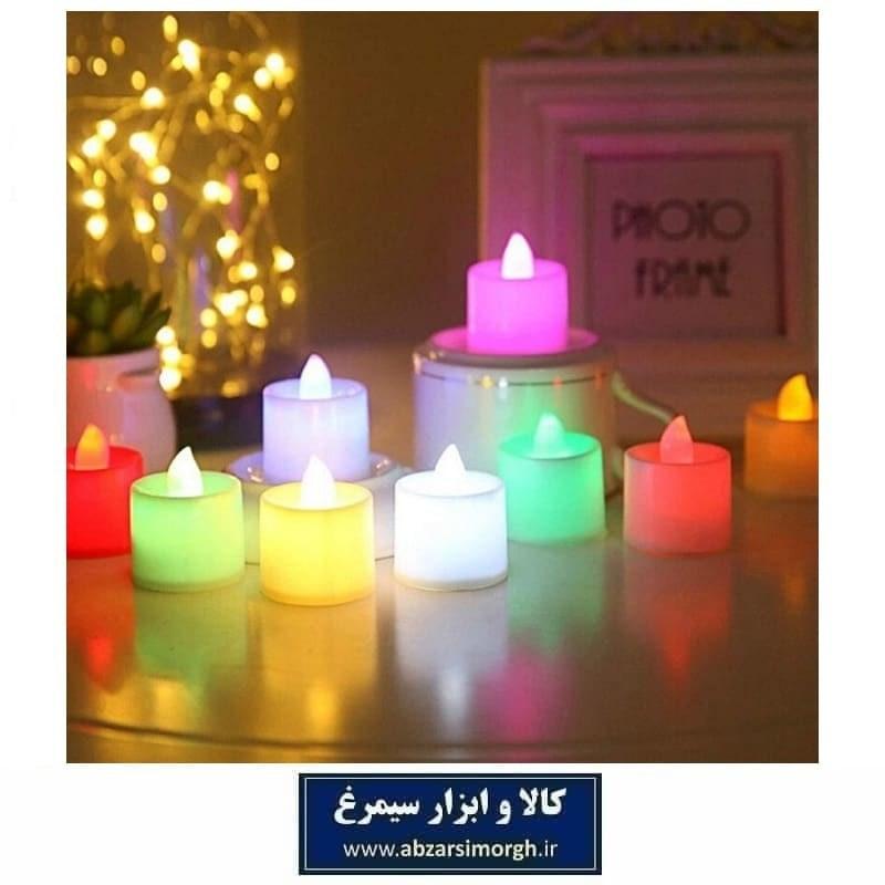 تصویر شمع ال ای دی LED تزئینی رنگی برای تولد و مراسم ELU-009