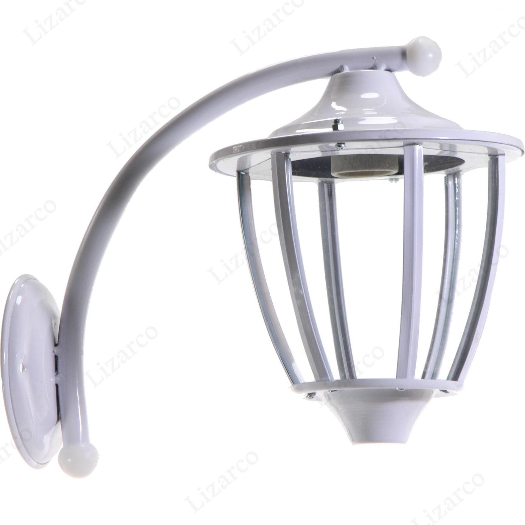 تصویر چراغ ديواری حياطی فلزی سفيد - متفرقه