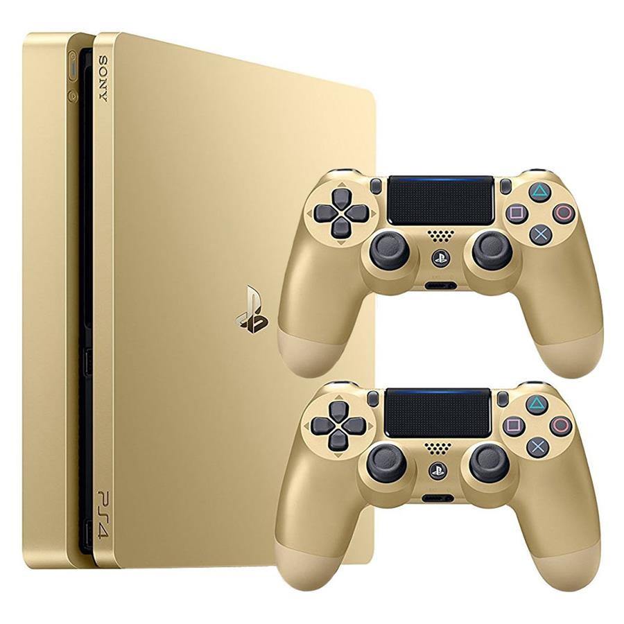 کنسول بازي سوني مدل Playstation ۴ Slim کد CUH-۲۰۱۶A Region ۲ - ظرفيت ۵۰۰ گيگابايت به همراه دو دسته | SONY Playstation 4 Slim Region 2 CUH-2016A 500GB Game Console With Two Controllers