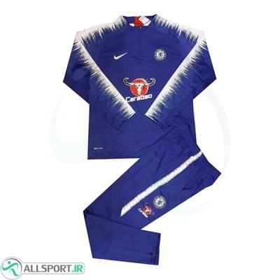 ست نیم زیپ شلوار چلسی Chelsea Training Tracksuit 2018