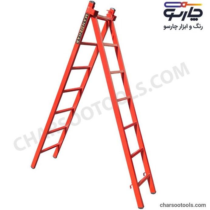 تصویر نردبان کشویی آهنی 14 پله