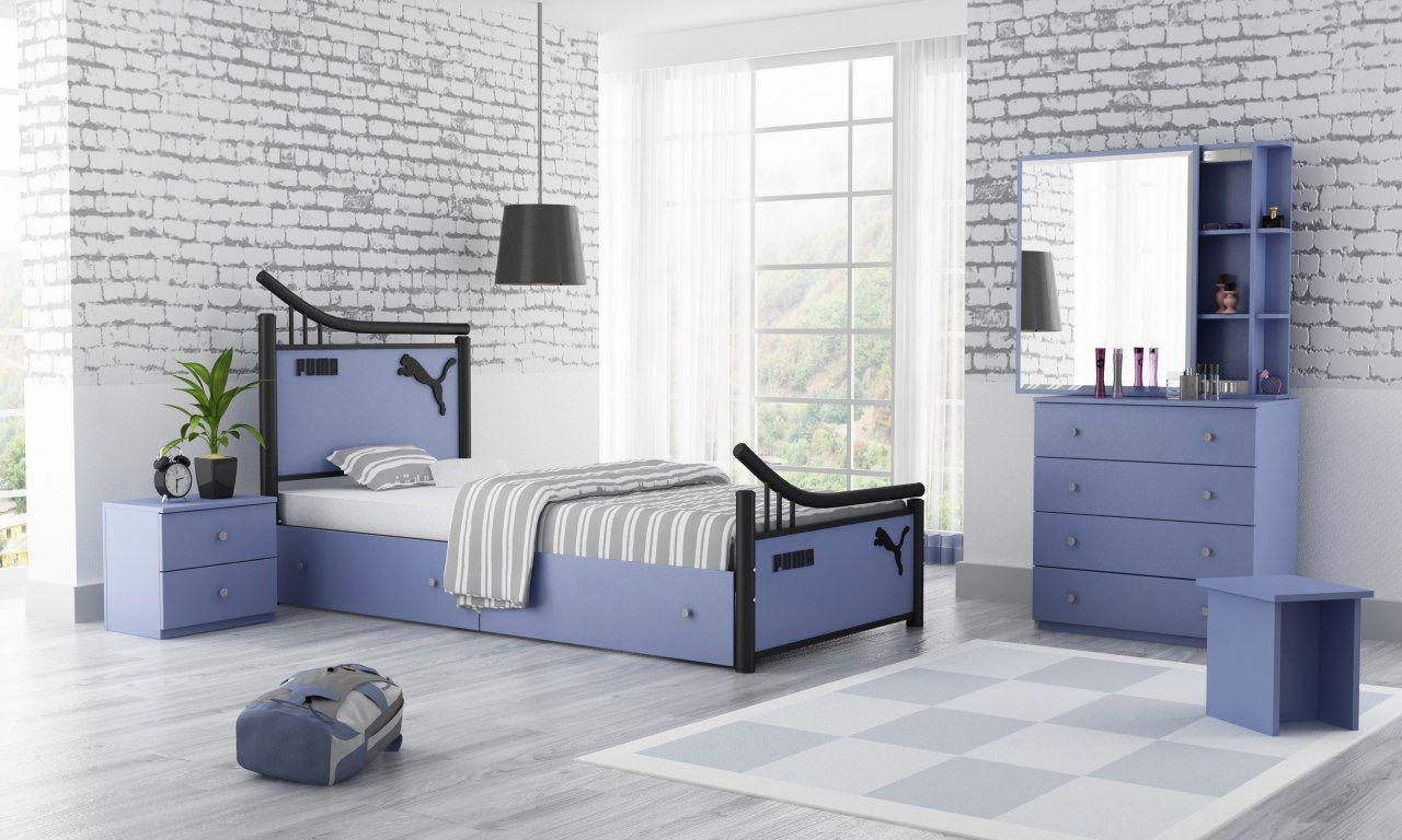 عکس تخت خواب یک نفره مدل پرنیا  تخت-خواب-یک-نفره-مدل-پرنیا