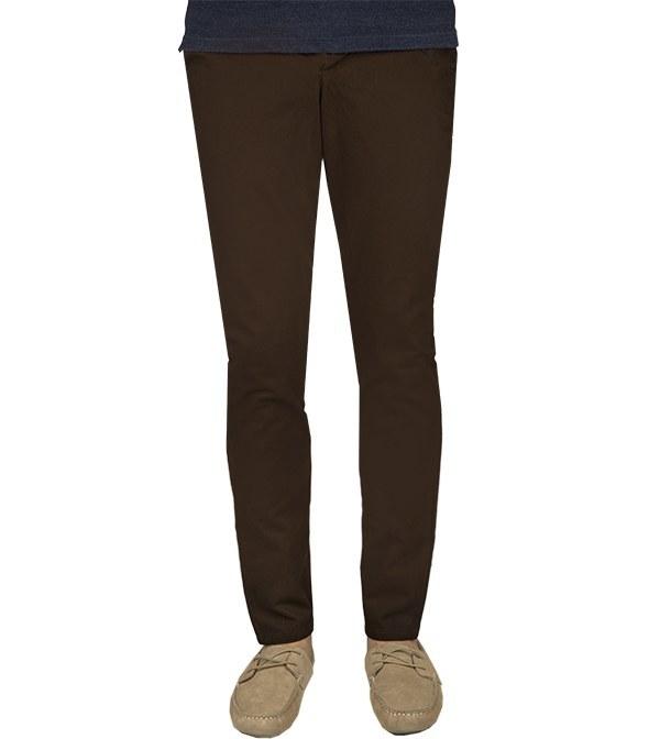 شلوار کتان مردانه جذب قهوه ای جوتی جینز Jooti Jeans