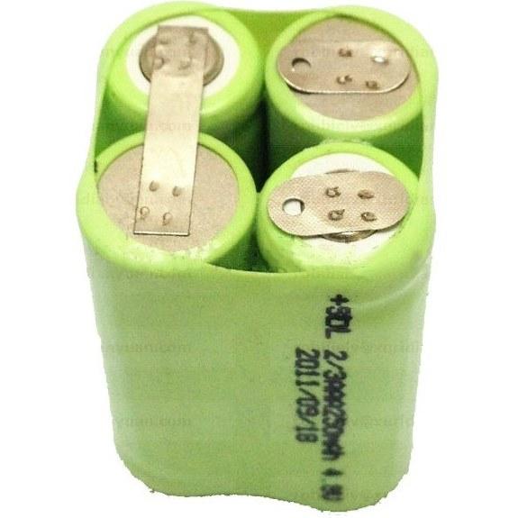 باتری نیکل متال 2/3 نیم قلمی 4.8 ولت با ظرفیت 300 میلی آمپر مناسب شوکر