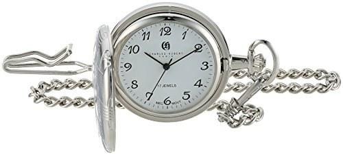 تصویر ساعت جیبی مکانیکی  Charles Hubert مدل 3841-W