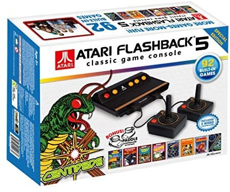 main images کنسول بازی آتاری فلش-بک 5 محصول برند At Games. Atari Flashback 5 Classic Game Console Special Edition (2 Wired Controllers + 1 Pair of Paddles)