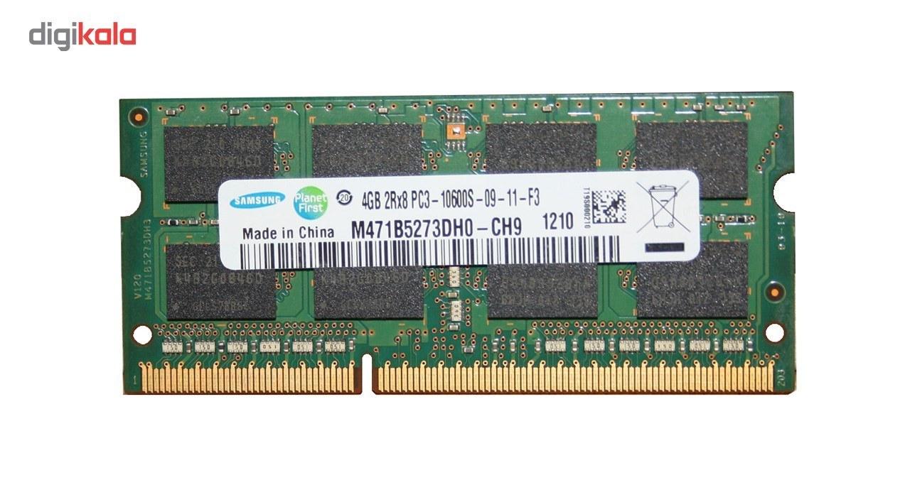 img رم لپ تاپ سامسونگ مدل 1333 DDR3 PC3 10600s MHz ظرفیت 4گیگابایت Samsung DDR3 PC3 10600s MHz 1333 RAM 4GB
