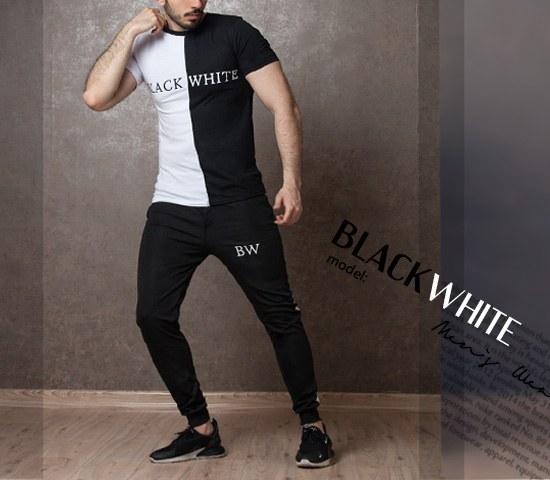 ست تیشرت و شلوار black white |