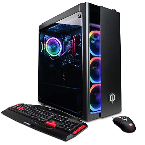 CYBERPOWERPC Gamer Xtreme VR GXiVR8020A2 دسکتاپ Gaming PC (اینتل i5-7400 3.0GHz، AMD RX 480 4GB، 8GB DDR4 RAM، 1TB 7200RPM SATA III HDD، 802.11AC WIFI USB آداپتور، Win 10 Home)، سیاه - با تولید کننده متوقف شد
