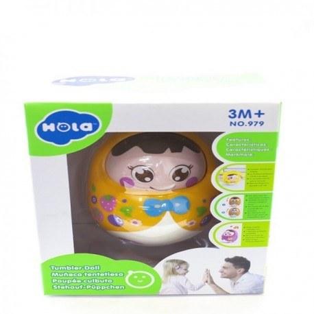 جغجغه هولی تویز طرح عروسکی مدل Tumbler Doll 979