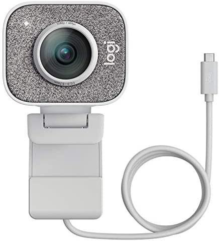 تصویر وبکم لاجیتک Logitech StreamCam - کیفیت فیلم برداری Full HD 1080p/60fps و فوکوس اتوماتیک تشخیص چهره با مدل های هوش مصنوعی Logitech StreamCam, Live Streaming Webcam, Full 1080p HD 60fps Vertical Video, Smart auto Focus and Exposure, Dual Camera-Mount Versatility, with USB-C, for YouTube, Gaming Twitch, PC/Mac - White