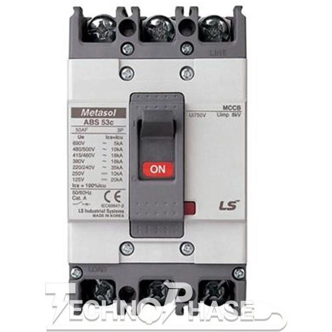 تصویر کلید اتوماتیک کمپکت 60 آمپر غیر قابل تنظیم حرارتي LS مدل METASOL