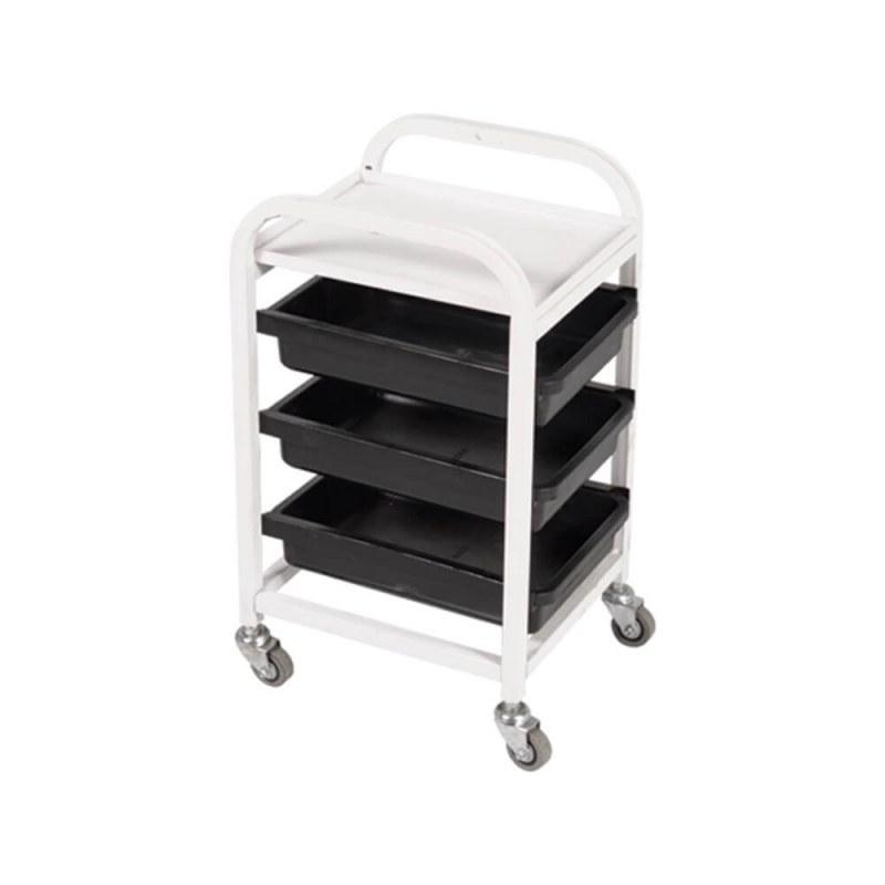 تصویر میز ترولی آرایشگاهی صنعت نواز مدل SN-2010 Industrial hairdressing trolley table model SN-2010