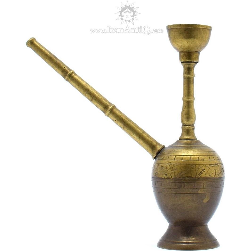 قلیان مینیاتوری برنجی | Miniature brass hookah kohinoor