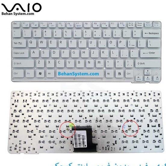 main images کیبورد لپ تاپ SONY مدل PCG سری 6000 به همراه لیبل کیبورد فارسی جدا گانه