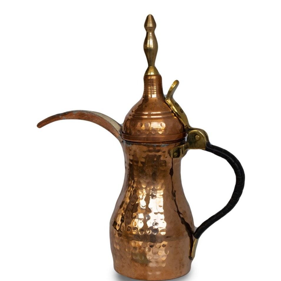 تصویر قهوه جوش دله عربی مدل بغدادی (مسی)