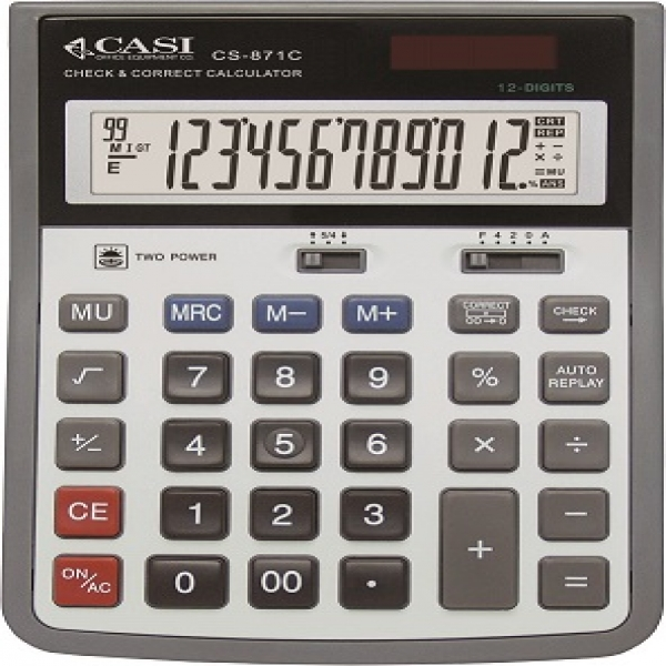 تصویر ماشین حساب کاسی مدل سی اس 871 ماشین حساب کاسی CS-871C Calculator