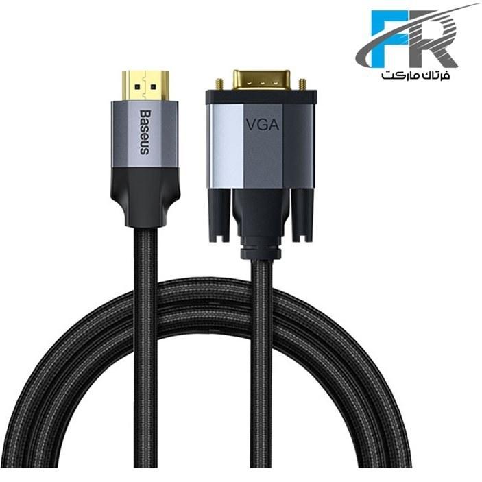 تصویر کابل تبدیل HDMI به VGA باسئوس مدل Enjoyment CAKSX-K طول 2 متر