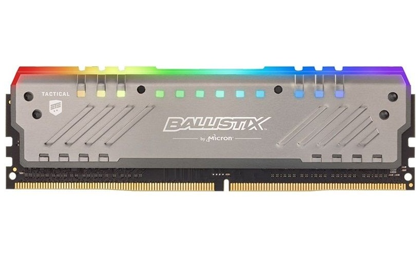 رم کروشیال سری Ballistix Tactical Tracer RGB با فرکانس ۳۰۰۰ مگاهرتز و حافظه ۸ گیگابایت | Crucial Ballistix Tactical Tracer RGB DDR4 8GB 3000Mhz CL16 Single Channel Desktop RAM
