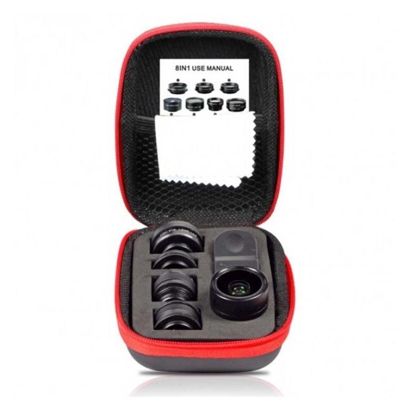 تصویر کیت لنز موبایل ۸-in-1 Lens Kit ایبولو IBOOLO IBOOLO 8-in-1 mobile Lens Kit
