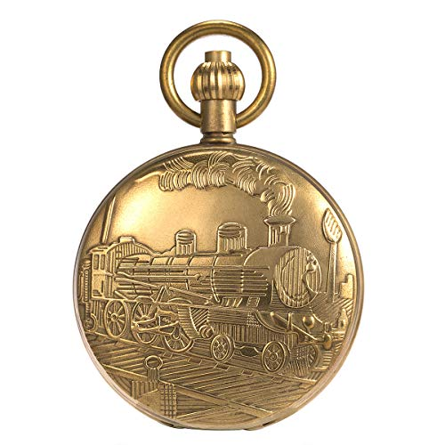 main images Skeleton Pocket Watch - Pure Cooper Finish Covered Horizontal Phases Moon Sun 24-Hour Coper Chain Skeleton Pocket Watch - Pure Cooper Finish Covered Horizontal Phases Moon Sun 24-Hour Coper Chain