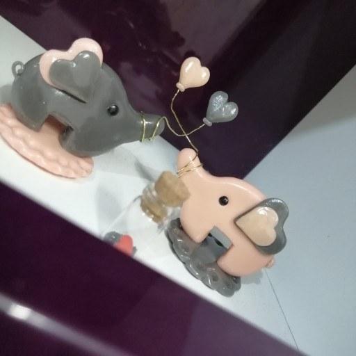 عکس مجسمه فیلِ قلبی  مجسمه-فیل-قلبی