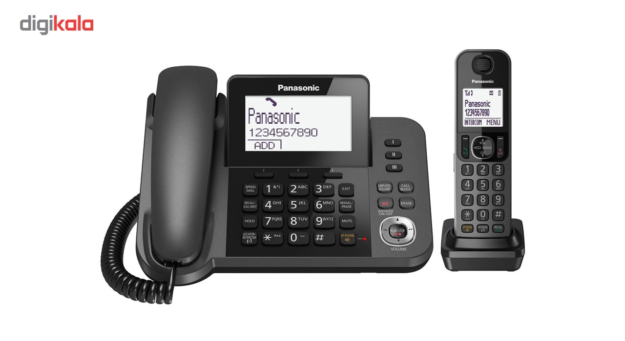 img گوشی تلفن ثابت و بی سیم  پاناسونیک Corded-Cordless Combo Telephone KX-TGF320JX
