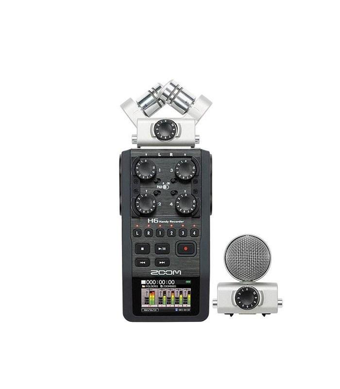 تصویر ضبط کننده حرفه ای صدا زوم مدل H6