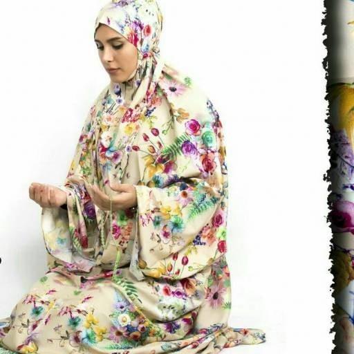 چادر نماز کیسه ای رنگ روشن