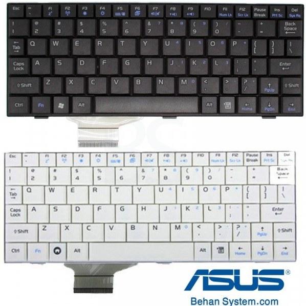 تصویر کیبورد لپ تاپ ASUS مدل EEE PC 701 به همراه لیبل کیبورد فارسی جدا گانه