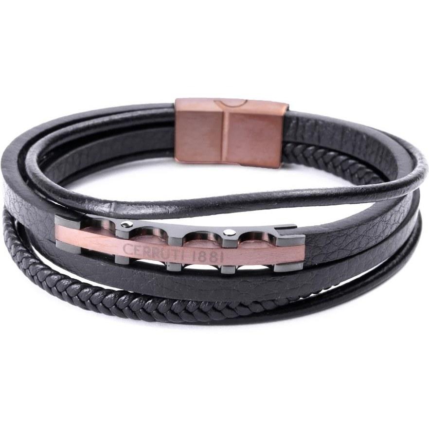تصویر دستبند مردانه چرم طرح CERRUTI مدل 158