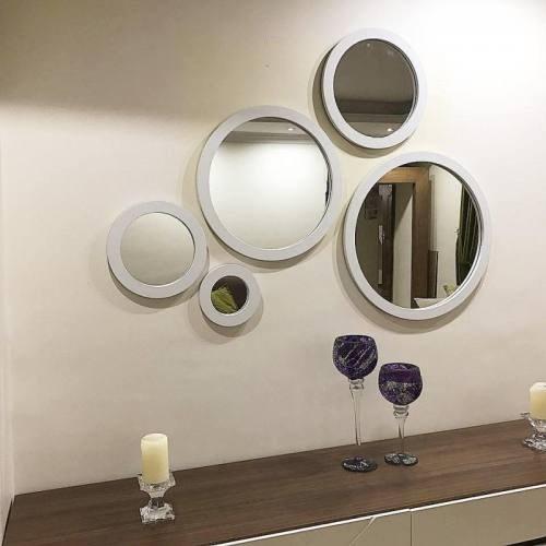 آینه گرد دکوراتیو