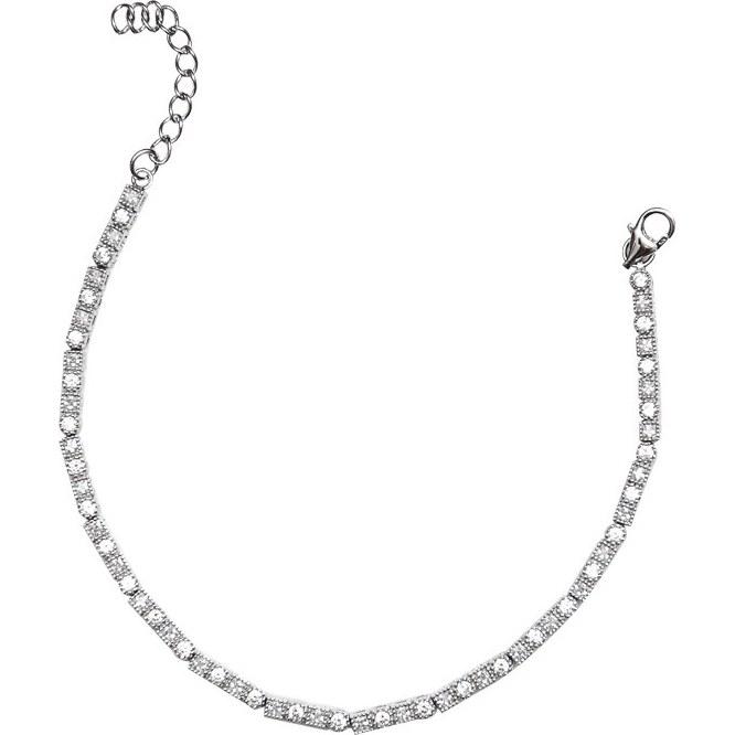 دستبند زنجیری نقره - کد SBC033