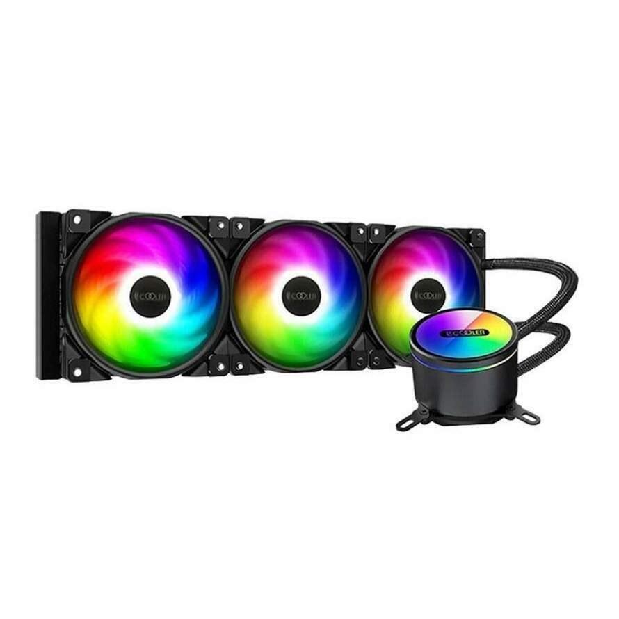تصویر خنک کننده مایع پردازنده پی سی کولر GI-CX360 ARGB PCCOOLER GI-CX360 ARGB AIO CPU Liquid Looler